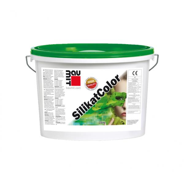 Силикатная фасадная краска Baumit SilikatColor, 14L, (22,4 кг)