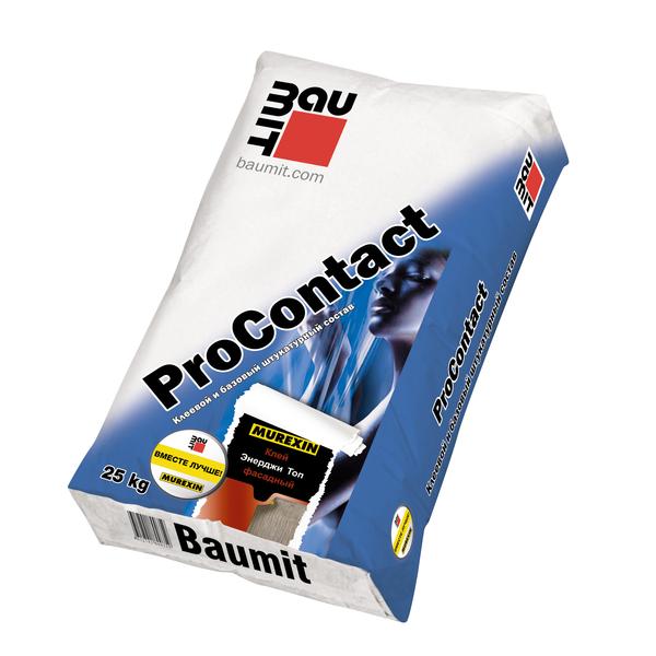 Клеевой и базовый штукатурный состав Baumit ProContact, 25 кг