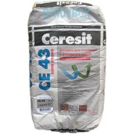 Затирка для широких швов Ceresit CE 43 Super Strong, 25 кг