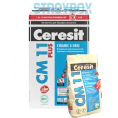 Клей для крепления керамической плитки для внутренних и наружных работ Ceresit СМ 11 Plus