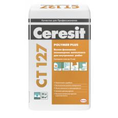 Белая финишная полимерная шпаклевка для внутренних работ Ceresit CT 127, 25 кг