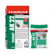 Высококачественный гибкий полимерцементный клей для плитки ISOMAT AK 22, белый