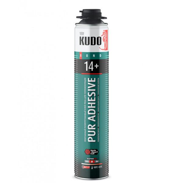 Клей-пена для теплоизоляции KUDO PUR ADHESIVE PROFF 14+, 1000 мл