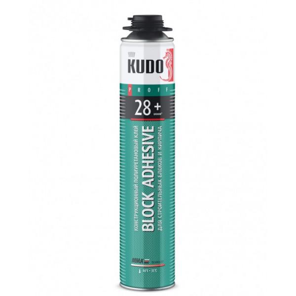 Клей-пена для строительных блоков и кирпича KUDO PROFF 28+ ABL, 1000 мл