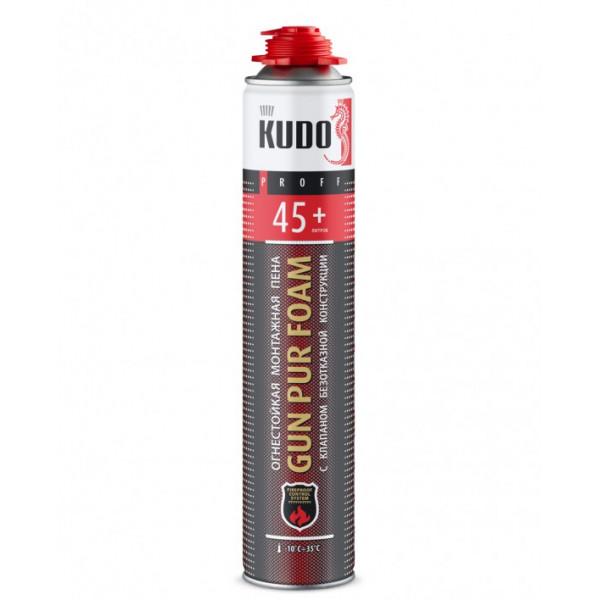 Огнестойкая монтажная профессиональная пена KUDO FIRE PROOF 45+, 1000 мл