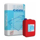 Гидроизоляционный фиброармированный двухкомпонентный состав ELASTOCEM, 32 кг (Комп. А 24 кг + Комп. В 8 кг)