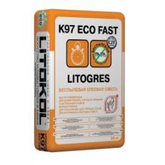 Беспылевая клеевая смесь LITOGRES K97 ECO FAST, 25 кг