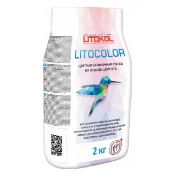 Цветная затирочная смесь LITOCOLOR, 2 кг