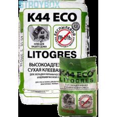 Беспылевая высокоадгезивная клеевая смесь LITOGRES K44 ECO