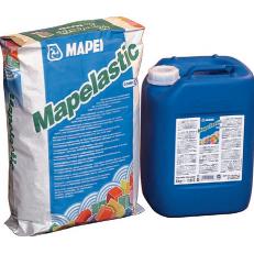 Двухкомпонентный эластичный состав на цементной основе для гидроизоляции MAPELASTIC, комплект 32 кг