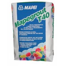 Быстротвердеющая ремонтная смесь с компенсированной усадкой Mapegrout T40, 25 кг