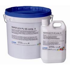 Двухкомпонентный  текучий  полиуретановый  герметик Mapeflex PU65, Комплект 10 кг