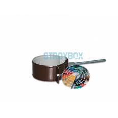 Крепеж трубы с саморезом окрашенный по RAL, 1 штука