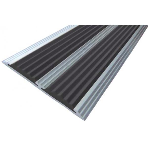 Алюминиевая полоса  без покрытия с двумя вставками 70 мм/5,5 мм, 1,00 м