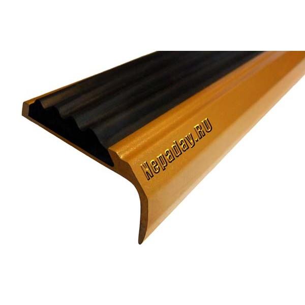 Алюминиевый накладной угол-порог с покрытием 42 мм/23 мм, 3,00 м