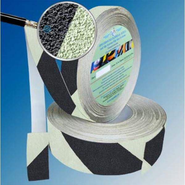 Самоклеющиеся сигнальные абразивные ленты против скольжения, ролик 18,3 м