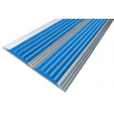 Алюминиевая полоса  без покрытия с двумя вставками 70 мм/5,5 мм, 2,00 м