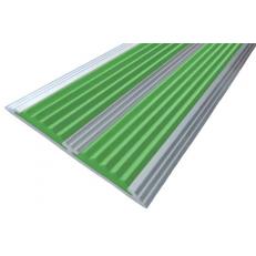 Алюминиевая полоса без покрытия  с двумя вставками 70 мм/5,5 мм, 1,33 м