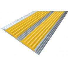 Алюминиевая полоса без покрытия  с двумя вставками 70 мм/5,5 мм, 3,00 м