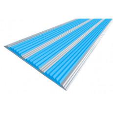 Алюминиевая полоса  без покрытия с тремя вставками 100 мм/5,6 мм, 1,33 м