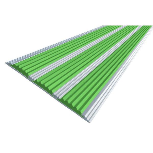 Алюминиевая полоса  без покрытия с тремя вставками 100 мм/5,6 мм, 3,00 м