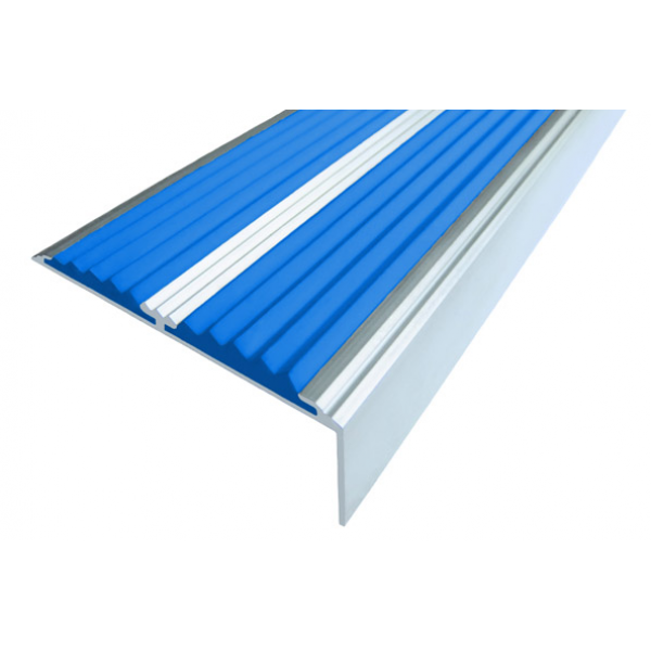 Алюминиевый угол-порог  без покрытия с двумя вставками 68 мм/5,5 мм/22,5 мм, 2,00 м