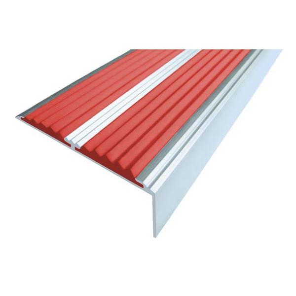 Алюминиевый угол-порог  без покрытия с двумя вставками 68 мм/5,5 мм/22,5 мм, 3,00 м