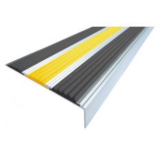 Алюминиевый угол без покрытия  с тремя вставками 98 мм/6,5 мм/22,4 мм, 2,00 м