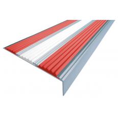 Алюминиевый угол  без покрытия с тремя вставками 98 мм/6,5 мм/22,4 мм, 3,00 м