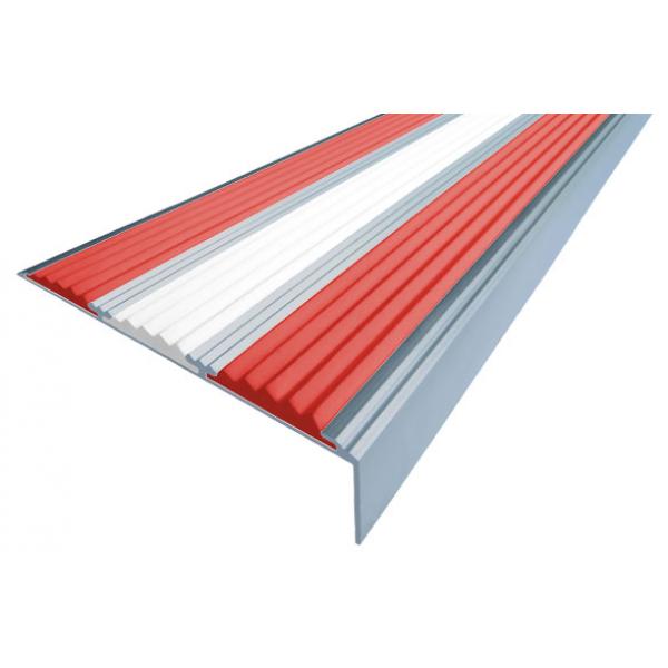 Алюминиевый угол  без покрытия с тремя вставками 98 мм/5,6 мм/22,4 мм, 3,00 м
