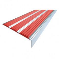 Алюминиевый угол  без покрытия с тремя вставками 98 мм/6,5 мм/22,4 мм, 1,33 м