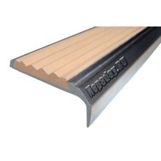 Алюминиевый накладной угол-порог без покрытия 42 мм/23 мм, 3,00 м