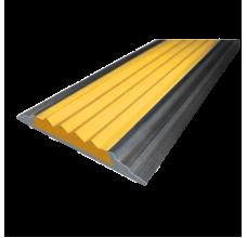 Алюминиевая  полоса  без покрытия с резиновой вставкой (46мм*5мм), 1,0 м