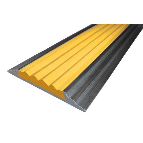 Алюминиевая  полоса  без покрытия с резиновой вставкой (46мм*5мм), 3,0 м