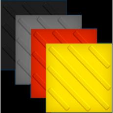 Тактильная диагональная плитка из ПВХ, 1 штука