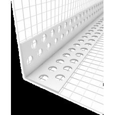 Профиль угловой ПВХ с армирующей сеткой, 1 штука