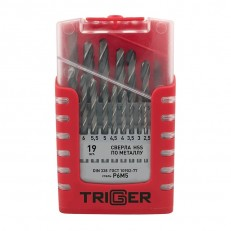 Набор сверл по металлу Trigger 74343 P6M5 1-10 мм (набор 19 шт.)
