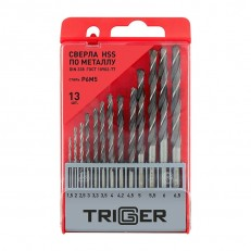 Набор сверл по металлу Trigger 74341 P6M5 1,5-6,5 мм (набор 13 шт.)