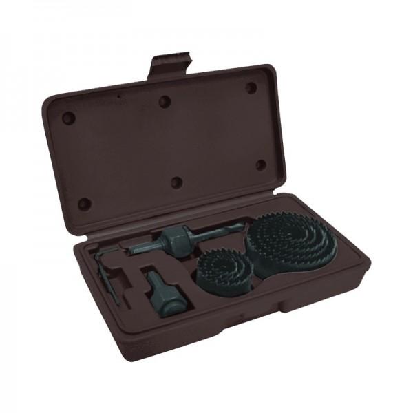 Набор кольцевых пил (коронок) Biber 71311 19-64 мм в кейсе (11 шт.)