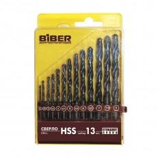 Набор сверл по металлу Biber 74132 HSS Стандарт 2-8 мм (13 шт.)