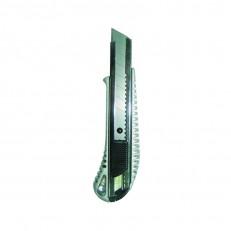 Нож строительный Biber 50116 усиленный, металлический корпус, 18 мм