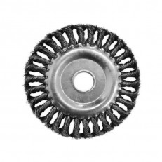 Щетка-крацовка Biber 70981 дисковая витая 100 мм с переходниками