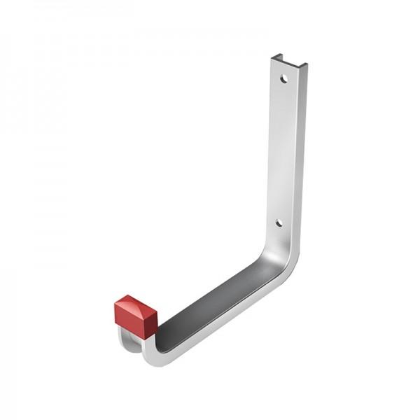 Крюк настенный, 110х145 мм, алюминий, серебро анод.
