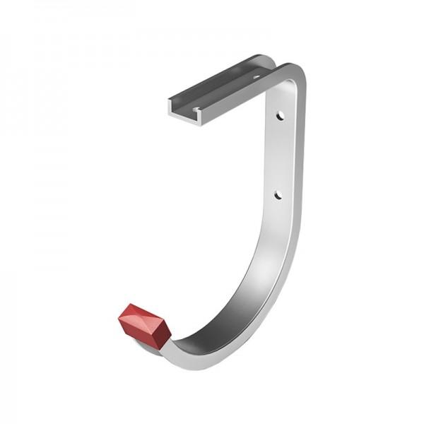 Крюк потолочный, закругл.130х160х90 мм, алюминий, серебро анод.