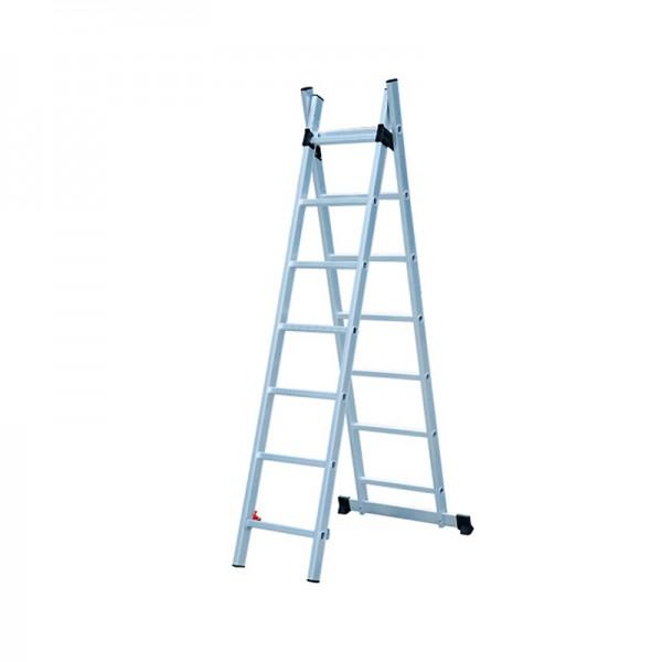 Лестница универсальная Biber 98429 2-х секционная 9 ступеней