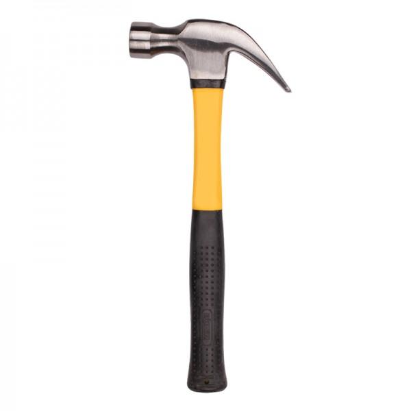 Молоток-гвоздодер Biber 85383 Профи кованый боек 0,6 кг