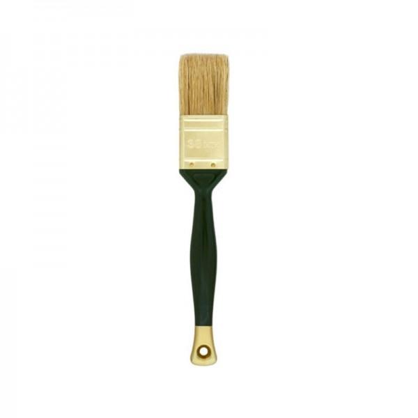 Кисть плоская ВАРЯГ 31232 светлая щетина 35 мм