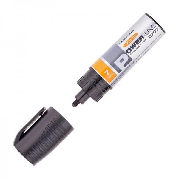 Маркер перманентный скошенный Power-Line 2707 черный линия 7 мм
