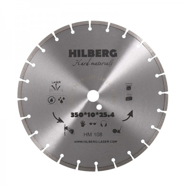 Диск алмазный по железобетону сегментный 350х25,4х10 мм