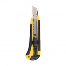 Нож строительный Biber 50113 усиленный 18 мм, 3 запасных лезвия
